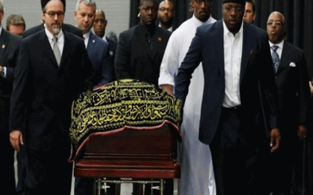 Funeral prayers of Muhammad Ali performed