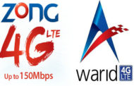 Zong 4G vs Warid 4G - Comparison between Zong and Warid 4G LTE services