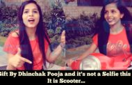 Eid gift by Dhinchak Pooja and it's not a Selfie this time, It is SCOOTER
