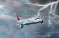 See How Airplane Got Struck By Lightning