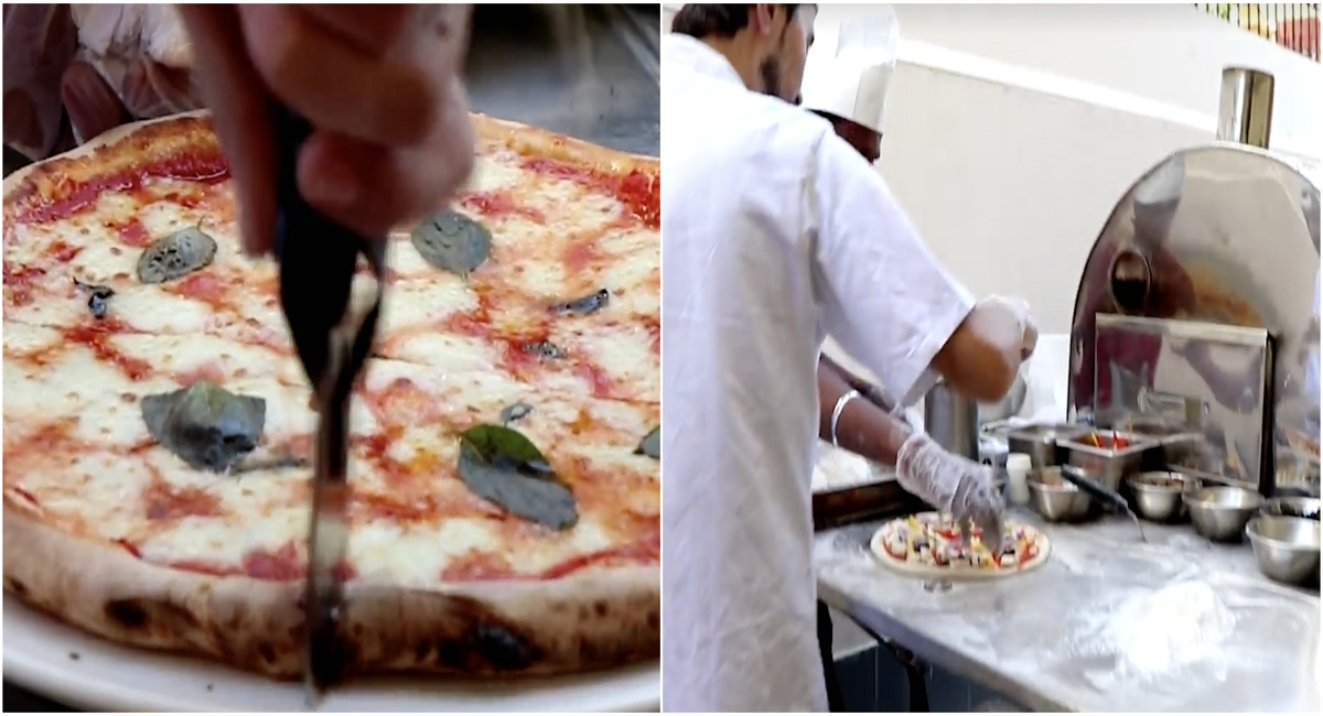 A restaurant in Karachi offering Pizza delivery by making it at your DOORSTEP
