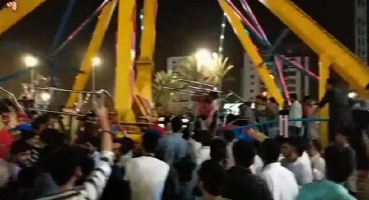 Video footage of Askari park accident and ride falling | Ride collapse in Askari park Karachi